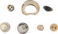 Antiques:Antiquities, Six Small Gold Objects... (Total: 6 Items)
