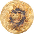 Antiques:Antiquities, Miniature Gold Disc with Pelicans...