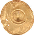 Antiques:Antiquities, Hammered Gold Pendant...