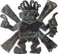 Antiques:Antiquities, Moche Decapitator Figure from Loma Negra...