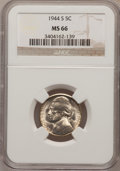 Jefferson Nickels: , 1944-S 5C MS66 NGC. NGC Census: (2592/1595). PCGS Population(1942/105). Mintage: 21,640,000. Numismedia Wsl. Price for pro...