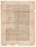"""Military & Patriotic:Civil War, Ohio State Journal """"Extra"""" Announcing the Battle of Shiloh...."""