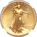 High Relief Double Eagles, 1907 $20 High Relief, Flat Rim--Improperly Cleaned--NGC Details. AU....