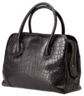 Luxury Accessories:Bags, Lana Marks Matte Black Alligator Large Jet Tote, Retail$19,000. ...