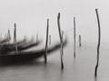 Photographs:Contemporary, MICHAEL KENNA (British/American, b. 1953). Gondolas I, Venice,Italy, 1980. Gelatin silver, 1981. 7 x 9-1/4 inches (17.8...