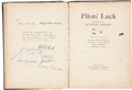 Military & Patriotic:WWI, WWI Aviation Art Book Signed by Eddie Rickenbacker, Charles Lindbergh, Billy Bishop and Four Members of the Lafayette Escadril...