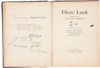 WWI Aviation Art Book Signed by Eddie Rickenbacker, Charles Lindbergh, Billy Bishop and Four Members of the Lafayette Es...