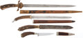 Military & Patriotic:WWI, Lot of Four German Stag-Handled Hunting Knives.... (Total: 4 Items)