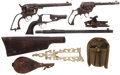 Military & Patriotic:Indian Wars, Large Lot of Antique Gun Parts....