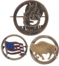Military & Patriotic:WWI, Three WWI Air Service Squadron Pins.... (Total: 3 Items)