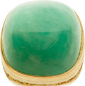 Estate Jewelry:Rings, Emerald, Yellow Sapphire, Gold Ring. ...