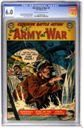 Golden Age (1938-1955):War, Our Army at War #9 (DC, 1953) CGC FN 6.0 Cream to off-whitepages....