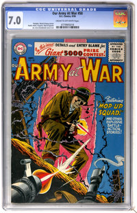 Our Army at War #50 (DC, 1956) CGC FN/VF 7.0 Cream to off-white pages