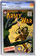 Golden Age (1938-1955):War, Our Army at War #41 (DC, 1955) CGC FN 6.0 Off-white to whitepages....