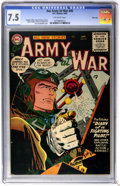 Golden Age (1938-1955):War, Our Army at War #45 River City pedigree (DC, 1956) CGC VF- 7.5Off-white pages....