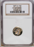 Proof Roosevelt Dimes: , 1977-S 10C PR68 Cameo NGC. NGC Census: (30/23). PCGS Population(19/24). Numismedia Wsl. Price: $10. (#85256)...