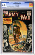 Golden Age (1938-1955):War, Our Army at War #37 (DC, 1955) CGC FN 6.0 Off-white pages....