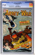 Golden Age (1938-1955):War, Our Army at War #30 (DC, 1955) CGC FN/VF 7.0 Off-white pages....