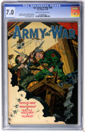 Golden Age (1938-1955):War, Our Army at War #28 (DC, 1954) CGC FN/VF 7.0 Cream to off-white pages....