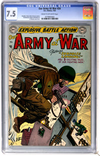 Our Army at War #24 (DC, 1954) CGC VF- 7.5 Cream to off-white pages