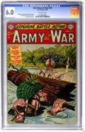 Golden Age (1938-1955):War, Our Army at War #23 (DC, 1954) CGC FN 6.0 Off-white pages....