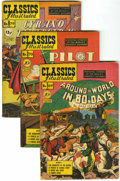 Golden Age (1938-1955):Classics Illustrated, Classics Illustrated Original Printings Group (Gilberton,1950-52).... (Total: 5 Comic Books)