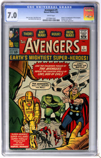 The Avengers #1 (Marvel, 1963) CGC FN/VF 7.0 White pages