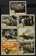 "Movie Posters:War, Bataan (MGM, 1943). Title Lobby Card and Lobby Cards (6) (11"" X14""). War. ... (Total: 7 Items)"