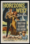 "Movie Posters:Western, Horizons West (Universal International, 1952). One Sheet (27"" X 41""). Western. ..."