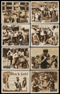 """Movie Posters:Black Films, Black Gold (Norman, 1928). Lobby Card Set of 8 (11"""" X 14""""). BlackFilms. ... (Total: 8 Items)"""