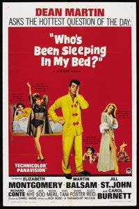 """Who's Been Sleeping in My Bed? (Paramount, 1963). One Sheet (27"""" X 41""""). Comedy. Starring Dean Martin, Elizabe..."""