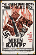 "Movie Posters:Documentary, Mein Kampf (Columbia, 1960). One Sheet (27"" X 41""). Documentary. Starring Claude Stephenson, Adolf Hitler, Friedrich Ebert, ..."