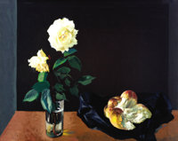 Xavier Gonzales (1898-1993) Bread and Roses, c.1950s Oil on canvas 24 x 30in. Signed lower right: X.G. Provenance: