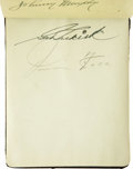 Autographs:Others, Circa 1939 Baseball Autograph Album with Foxx, Klein. A young girl's passion for baseball lives on today in the form of thi...