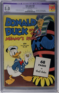 Four Color #29 Donald Duck and the Mummy's Ring (Dell, 1943) CGC Apparent VG/FN 5.0 Slight (P) White pages