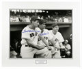 Autographs:Photos, Ted Williams and Bobby Doerr Signed Large Photograph. Beautifullymatted and mounted black and white photograph featuring T...