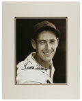 Autographs:Photos, Ted Williams Signed Large Photograph. The beautifully matted andmounted black and white photograph of Ted Williams is domi...