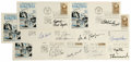 Basketball Collectibles:Others, Basketball Hall of Famers Signed First Day Covers Lot of 50. Greatgroup of signed First Day Covers courtesy of Basketball ...