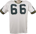 Football Collectibles:Uniforms, Early 1970's Ray Nitschke Game Worn Jersey. The late Ray Nitschke was the inspirational leader for over a decade of one of ...