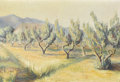 Fine Art - Painting, American:Other , AMERICAN SCHOOL. Orchard. Oil on canvas. 19-3/4in. x 29in..... (Total: 1 Item)