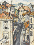 Fine Art - Painting, European:Contemporary   (1950 to present)  , AFROYIM SOSHANA (Austrian, b. 1927). City Scene. Oil on canvas. 25-3/4in. x 19-3/4in.. Signed at lower right SOSHANA... (Total: 1 Item)