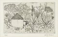 Prints:Contemporary, DOLF RIESER (South African, 1893-1983). South AfricanLandscape, 1922. Engraving. 5-1/2in. x 8in.. Signed in pencilat l... (Total: 1 Item)