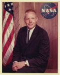 "Autographs:Celebrities, Early Neil Armstrong Signed Color Photograph, 8"" x 10"", ""To Joe-/ with thanks for keeping/ me fit to fly-/ Neil Armstrong.... (Total: 1 Item)"