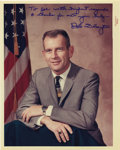 """Autographs:Celebrities, Donald K. Slayton Signed Color Photograph, 8"""" x 10"""", """"To Joewith highest regards/ & thanks for all your help-/ D.K.Slayt... (Total: 1 Item)"""