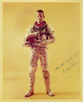 """Autographs:Celebrities, Gordon Cooper Signed Color Photograph, 8"""" x 10"""", """"All bestregards to Joe/ Gordon Cooper."""" From the collection ofreno... (Total: 1 Item)"""