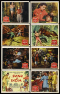 """Movie Posters:Adventure, Song of India (Columbia, 1949). Lobby Card Set of 8 (11"""" X 14"""").Adventure. ... (Total: 8 Items)"""