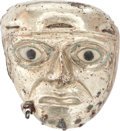 Antiques:Antiquities, Moche Tumbaga Mask with Dangles...