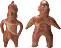 Antiques:Antiquities, Two Colima Standing Figures... (Total: 2 Items)