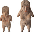 Antiques:Antiquities, Two Chupicuaro Pretty Ladies... (Total: 2 Items)