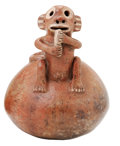 Antiques:Antiquities, Vessel with a Monkey Eating Fruit...